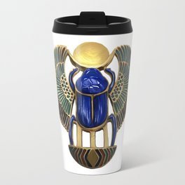 Painted Egyptian Necklace Travel Mug