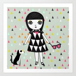 She loves her eames.  Art Print