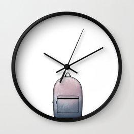 Heard You Like Backpacks Wall Clock