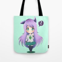chibi Tote Bags featuring Chibi by Alice