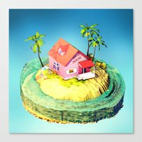 dragonball z Canvas Prints featuring Kame House - DragonBall Z by Neil Stratford
