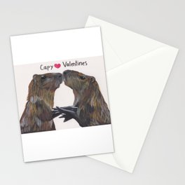Capy Valentines Stationery Cards
