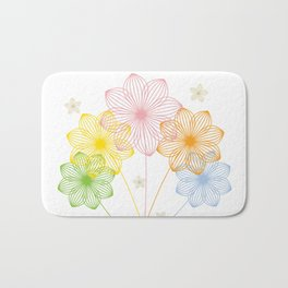 Blooming Flowers Bath Mat
