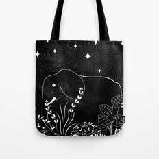Elephant and Stars Tote Bag