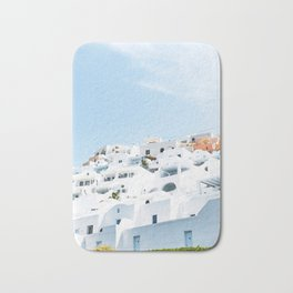 Lost in Santorini Greece Bath Mat