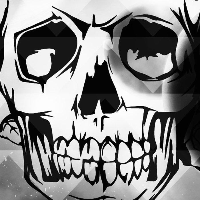 bw space skull  Leggings