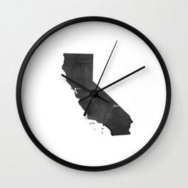 Usa Map Watercolor Printable Art Wall Art Real  Canvas Usa State Map California Watercolor Painting Wall Clock