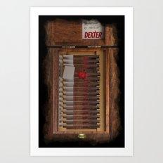 I-Dex Dexter Blood slide Iphone case... Art Print