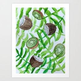 Tropical botancial Art Print