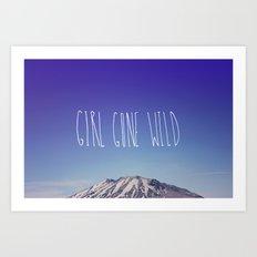 Girl Gone Wild x Mount Rainier Art Print