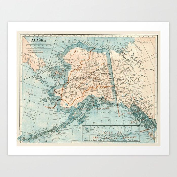 Vintage Alaska Art Print
