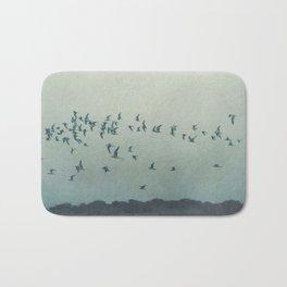 birds blue Bath Mat