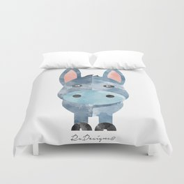 Water Colour Baby Donkey Duvet Cover