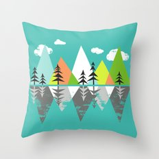 The Crystal Lake Throw Pillow
