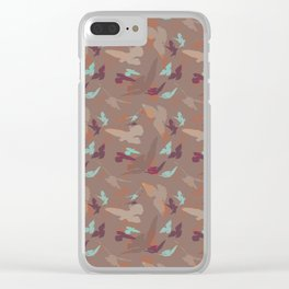 Bird Camouflage at Cozy Fall Clear iPhone Case