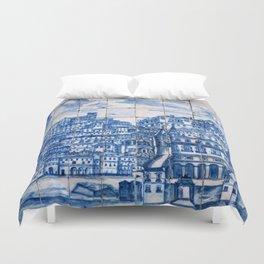 Lisbon portugal Azulejo Tile art Duvet Cover