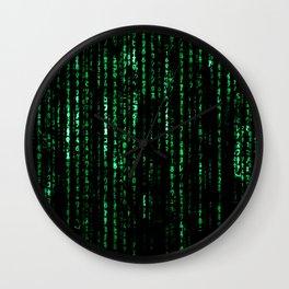 The Matrix Code Wall Clock