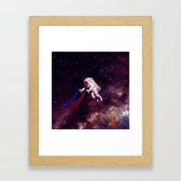 """Shooting Stars"" - Astronaut Artist Framed Art Print"