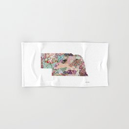 Nebraska map Landscape Hand & Bath Towel
