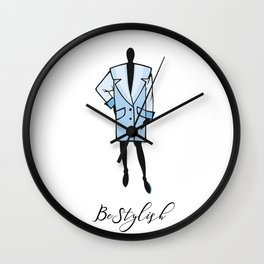 lady clothes icon Wall Clock