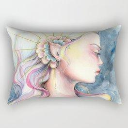 """Andromeda"" Watercolour Space Princess Portrait Rectangular Pillow"