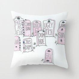 Dead girls  Throw Pillow