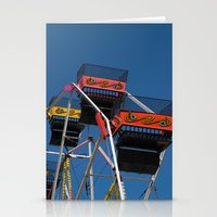 ferris wheel Stationery Cards featuring Ferris Wheel by Steve Purnell