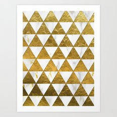 Marble and Gold Pattern #3 Art Print