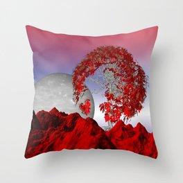 landscape somewhere else -10- Throw Pillow