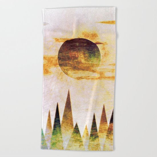 Arctic Moon Beach Towel