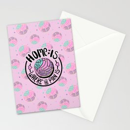 Home Is Where The Pan Is - Pink Version Stationery Cards