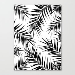 Palm Leaves Cali Finesse #3 #BlackWhite #tropical #decor #art #society6 Canvas Print