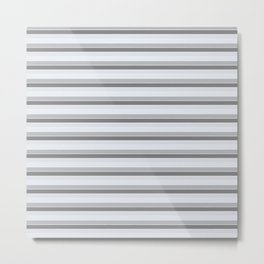 Gray stripes Metal Print