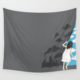 Hey Mr. Blue Sky Wall Tapestry