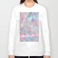 holographic Long Sleeve T-shirts featuring Crystalline by Jevan Strudwick