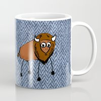 buffalo Mugs featuring buffalo by Paul Simms