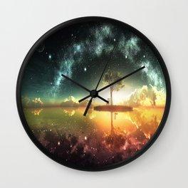 Space Tree Wall Clock