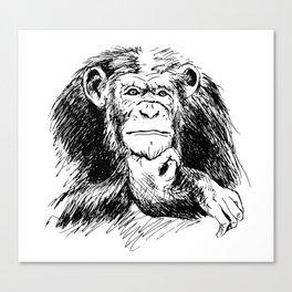 Drawing Chimpanzee Canvas Print