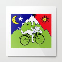 Lsd Bicycle Metal Print