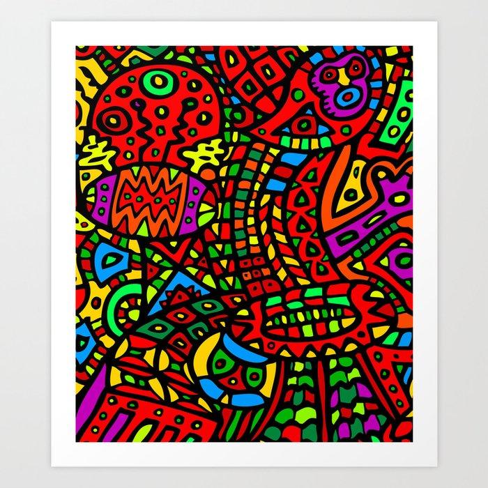 Abstract #411 Art Print