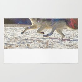 Running with wolves Rug