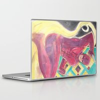 daredevil Laptop & iPad Skins featuring Daredevil on watercolors by Adrian Onesimus Miciano