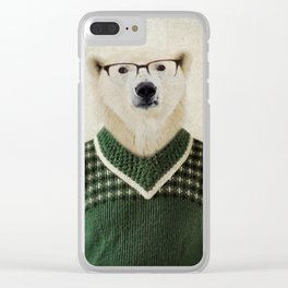 Spencer Bear Clear iPhone Case