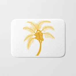 Skeleton Palm Tree White Bath Mat