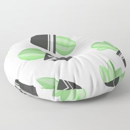 Potted Cactus and Succulents Floor Pillow