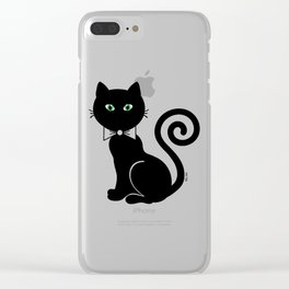 Bow Tie Cat Clear iPhone Case