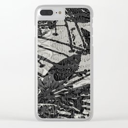 tribal tex Clear iPhone Case