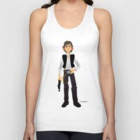 han solo Tank Tops featuring Han Solo by Roe Mesquita