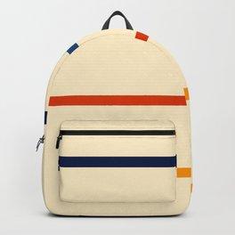 Abstract Minimal Retro Stripes Bikram Backpack