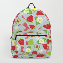 Strawberry Fields Floral Pattern Backpack